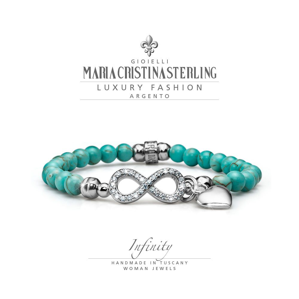 bracciale donna-argento 925-crystal-infinity-maria cristina sterling