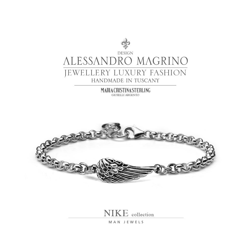data di rilascio: b8cad 24825 MEN'S JEWELLERY BRACELET NIKE SILVER MADE IN ITALY