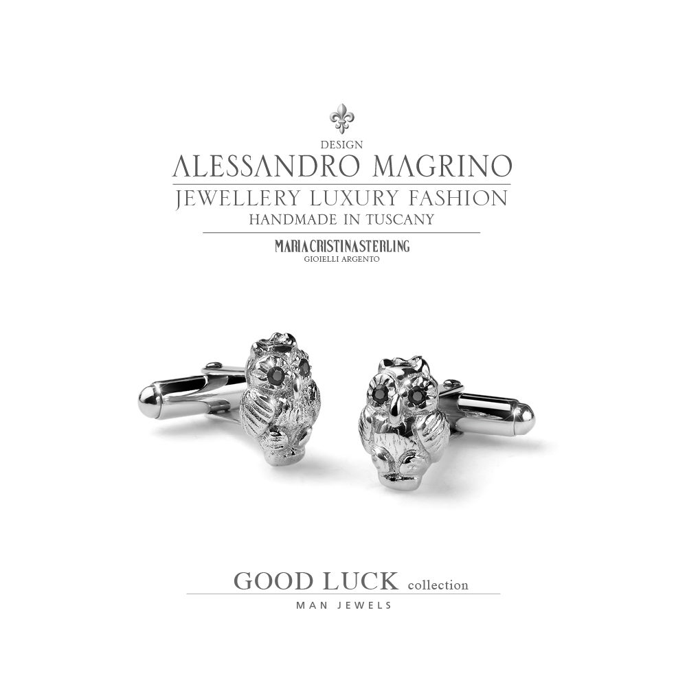 gemelli uomo-argento-good luck-maria cristina sterling